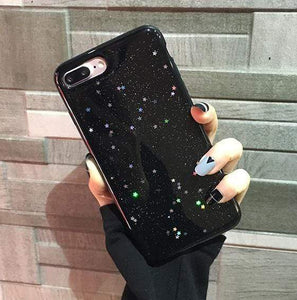 Glittery iPhone Case iPhone Case casetent For iPhone XR / Black