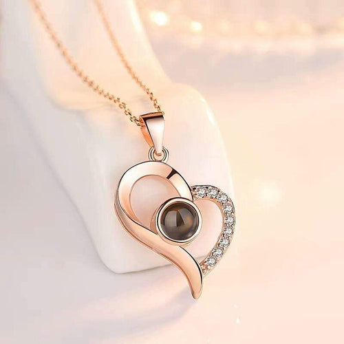 Love Heart Romantic Necklace Necklace casetent