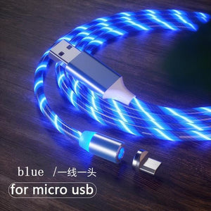 Magnetic charging Phone Cable USB Type C Charging Cable casetent blue for micro usb / 1m