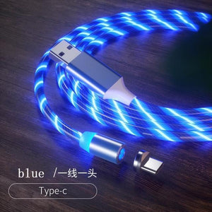 Magnetic charging Phone Cable USB Type C Charging Cable casetent blue for type-c / 1m