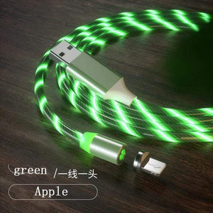 Magnetic charging Phone Cable USB Type C Charging Cable casetent green for iphone / 1m