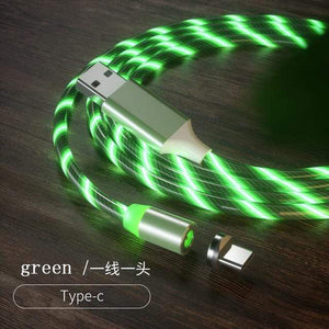 Magnetic charging Phone Cable USB Type C Charging Cable casetent green for type-c / 1m