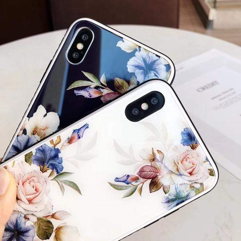 Rose Tempered Glass iPhone Case iPhone Case casetent