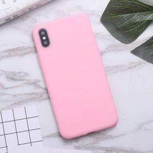 Samsung Galaxy Phone Case Soft Candy Color Samsung Galaxy Case casetent A7 2018 A750 / dark pink