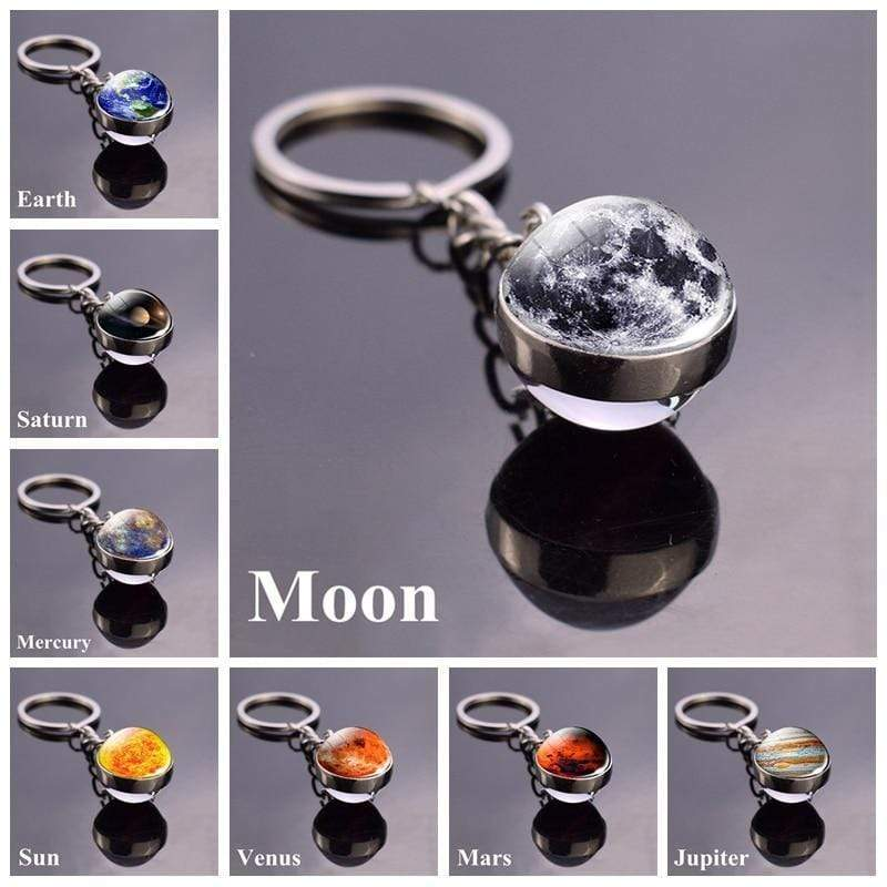 Solar System Planet and Galaxy Key chain Key Chain casetent
