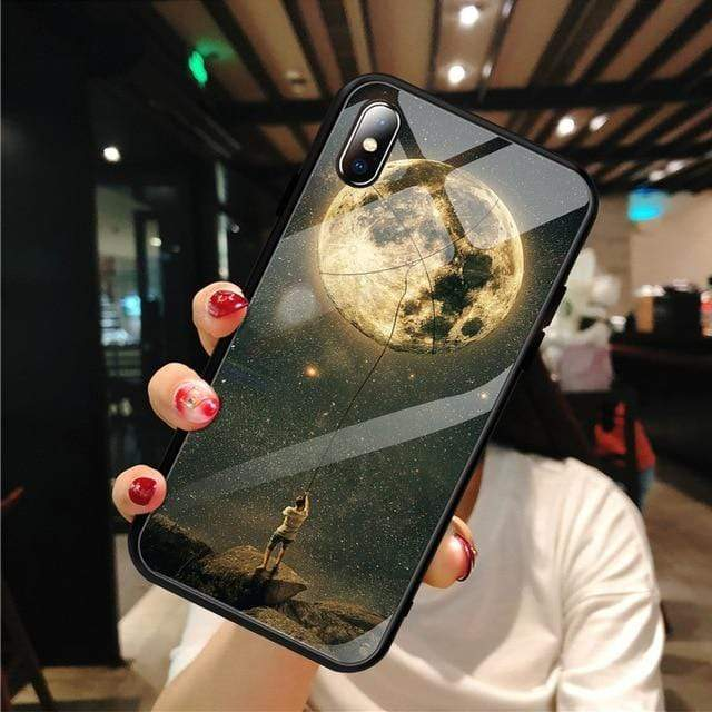Stylish Tempered iPhone Case ( X & 11 ) SERIES iPhone Case casetent For iPhone XR / 12