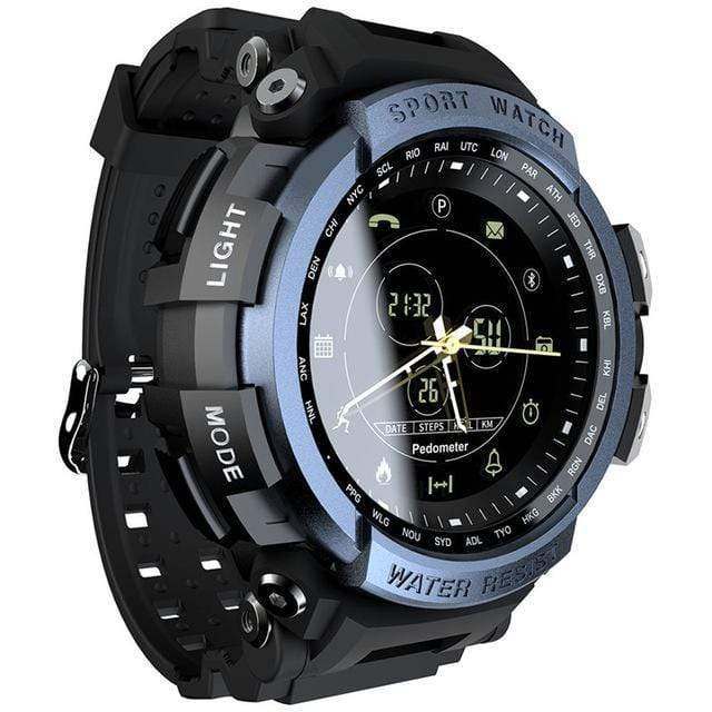 Teamo Smart Watch 50 M Waterproof Smart Watch casetent Blue