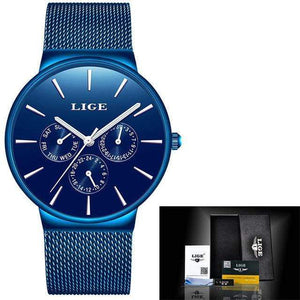 Top Brand Luxury Waterproof Watch Watch casetent Full Blue