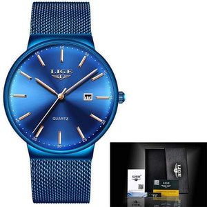 Top Brand Luxury Waterproof Watch Watch casetent Full Blue 2