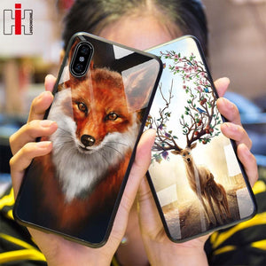 Wild Design Tempered Glass Case for iPhone iPhone Case casetent