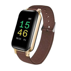 Wireless Bluetooth Headset & Smart Bracelet Smart Watch casetent Champagne Gold