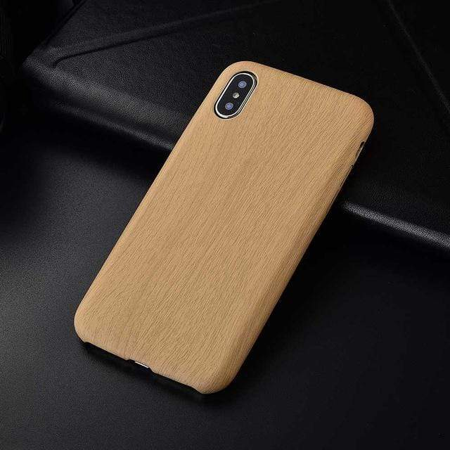 Woody iPhone Case For iPhone Anti-knock Soft Silicone iPhone Case casetent For iphone 6 plus / MLight Brown