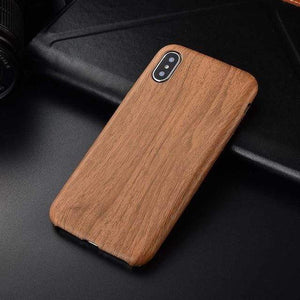 Woody iPhone Case For iPhone Anti-knock Soft Silicone iPhone Case casetent For iphone 6s plus / Mbrown