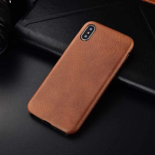 Woody iPhone Case For iPhone Anti-knock Soft Silicone iPhone Case casetent For iphone 8 plus / Lbrown