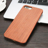 Woody Phone Case for iPhone 11 Pro Max XS XR 6 7 8 Plus iPhone Case casetent For iphone 5 5s SE / Rose Wood