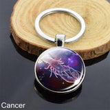 Zodiac Sign Key-chain Sphere Ball Key Chain casetent Cancer 4