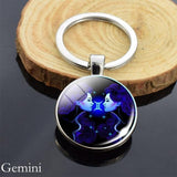 Zodiac Sign Key-chain Sphere Ball Key Chain casetent Gemini 2