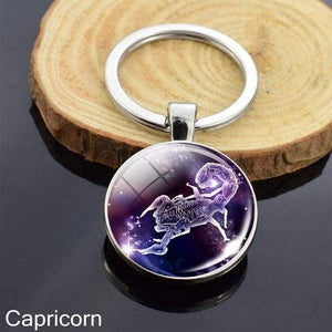 Zodiac Sign Key-chain Sphere Ball Key Chain casetent Scorpio 4