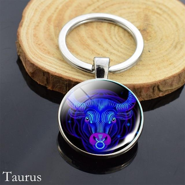 Zodiac Sign Key-chain Sphere Ball Key Chain casetent Taurus 2