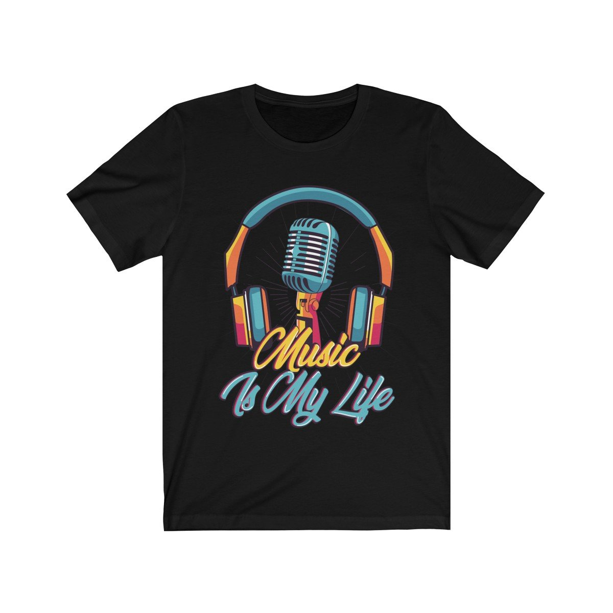 Headphone and Mic Music is my Life Short Sleeve - Null Audio