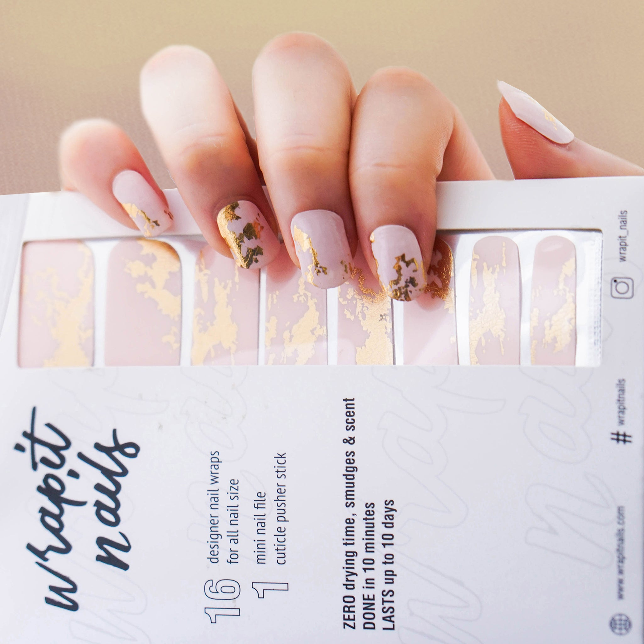 24K Magic - WrapIt Nails