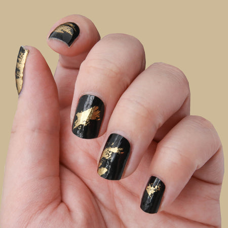Black & Gold - WrapIt Nails