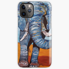 Blue Lucky Elephant iPhone Case & Cover