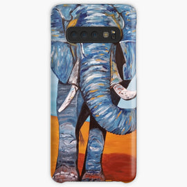 Blue Lucky Elephant Case & Skin for Samsung Galaxy