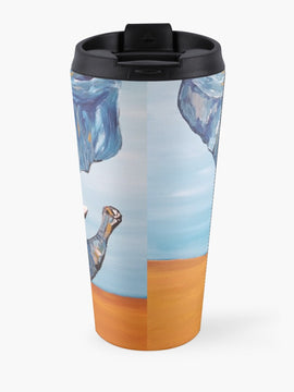Blue Lucky Elephant Travel Mug