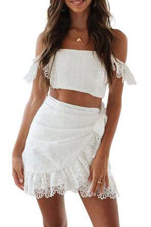Women Clothing Designers The Best Petunia Crop Top and Skirt Set