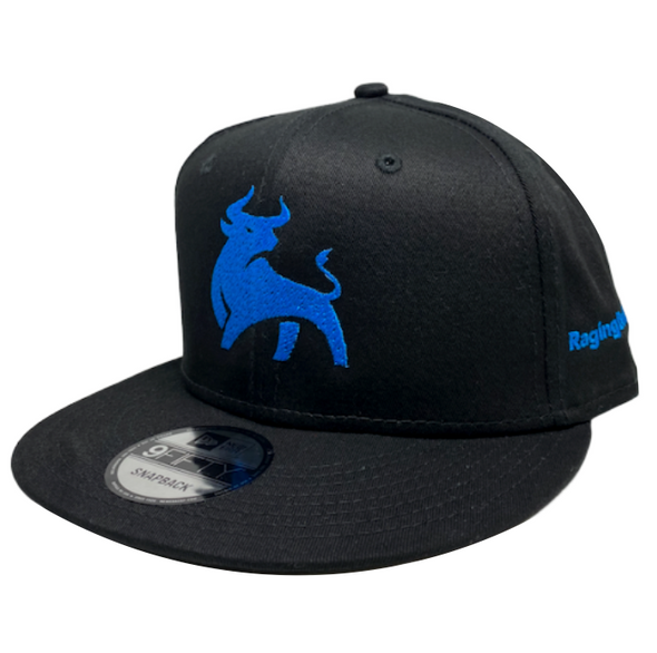 RagingBull Flat Bill Snapback (Black/Blue)