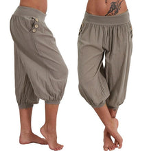 Load image into Gallery viewer, Harem Capris Bohemian Baggy Pants