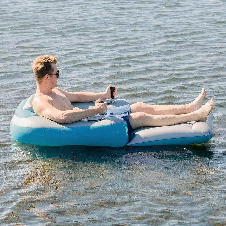 Motorized Inflatable Swimming Pool Lounger