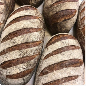 Born + Bread spelt and rye sourdough loaf