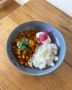 Chana Masala w/ Potatoes and Spinach - 2 serve portion (GF and Vegan Options)