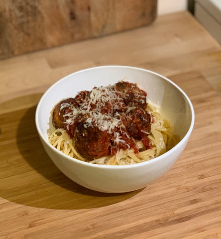 Barongarook Pork and Beef Meatball Pasta