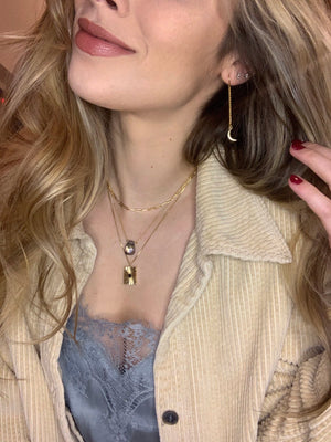 Gold Link Choker Necklace
