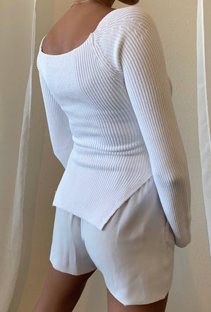 Aspen Sweater White