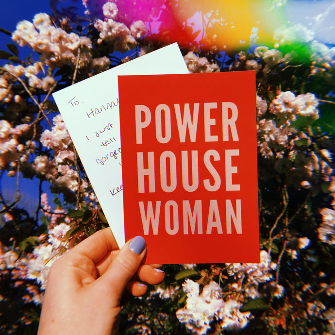 Powerhouse Woman Power Postcard - Free Personalisation