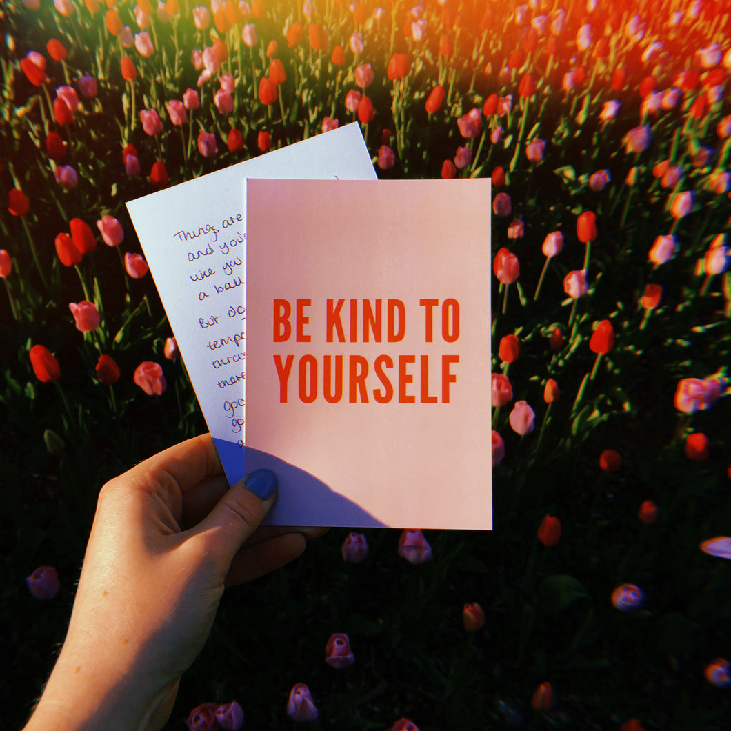 Be Kind To Yourself Power Postcard - Free Personalisation