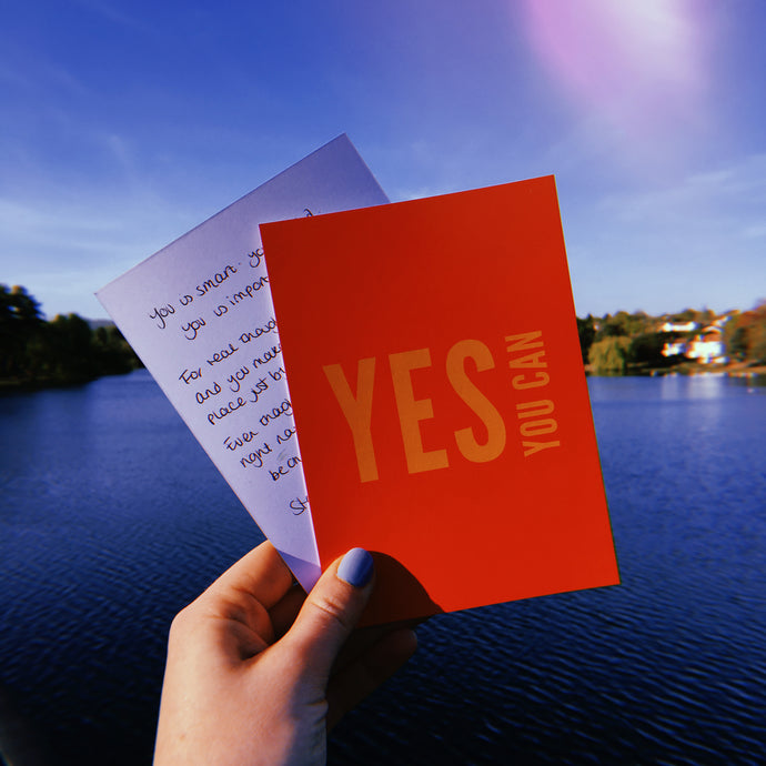 Yes You Can Power Postcard - Free Personalisation