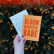 Load image into Gallery viewer, Bloom Beautiful Babe Power Postcard - Free Personalisation