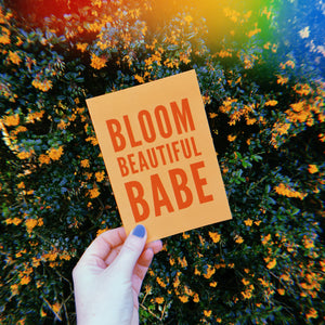 Bloom Beautiful Babe Power Postcard - Free Personalisation
