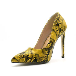 Slip-On Stiletto Heel Pointed Toe Serpentine Ultra-High Heel(≥8cm) Thin Shoes