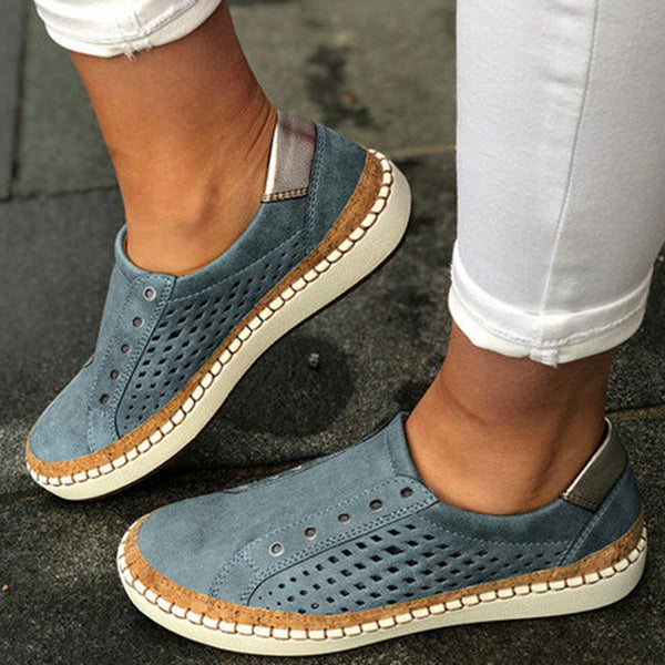 Low-Cut Upper Thread Slip-On Round Toe Casual Casual Sneakers