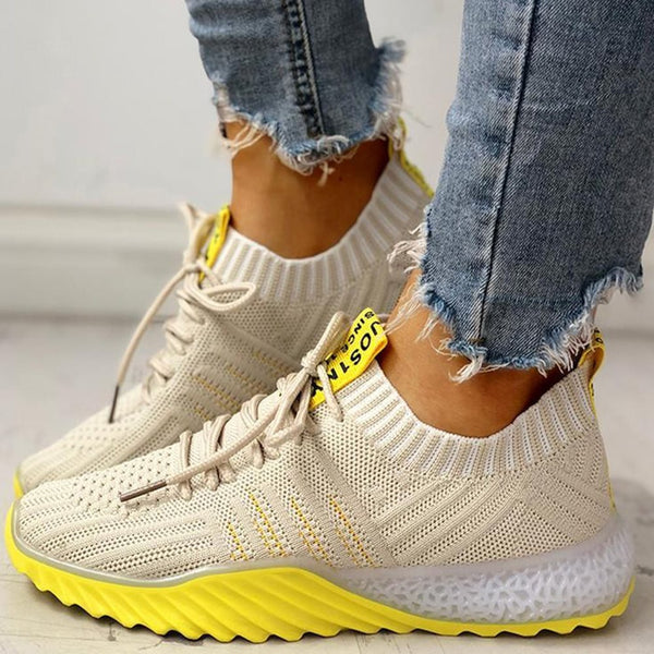 Lace-Up Round Toe Low-Cut Upper Lace-Up Casual Casual Sneakers