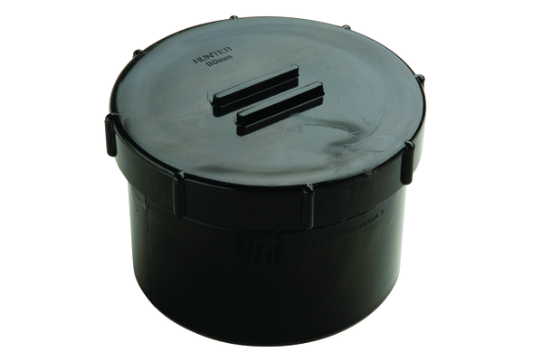 Hunter UPVC 110 mm Soil Access Cap (Spigot Tail)