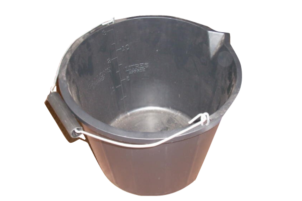 Silverline 15 Litre Black Plastic Bucket