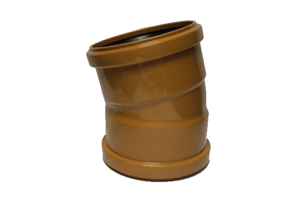 UDS Underground Drainage 15° Double Socket Bend 110mm