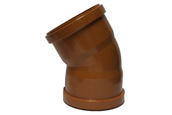 UDS Underground Drainage 30° Double Socket Bend 110mm
